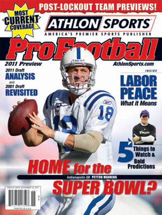 Peyton Manning unsigned Indianapolis Colts 2011 Athlon Sports NFL Pro Football Magazine Preview PSM-Powers Sports Memorabilia