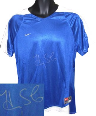 Hope Solo signed Nike Dri-FIT Blue Jersey XXL - JSA Holo (Olympics Team USA) PSM-Powers Sports Memorabilia