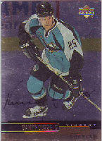 Vincent Damphousse San Jose Sharks 1999 Upper Deck Foil Autographed Card. This item comes with a certificate of authenticity from Autograph-Sports. PSM-Powers Sports Memorabilia