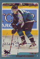 Vincent Damphousse San Jose Sharks 2003 Opee Chee Autographed Card. This item comes with a certificate of authenticity from Autograph-Sports. PSM-Powers Sports Memorabilia