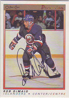 Rob DiMaio New York Islanders 1991 Opee Chee Premier Autographed Card. This item comes with a certificate of authenticity from Autograph-Sports. PSM-Powers Sports Memorabilia