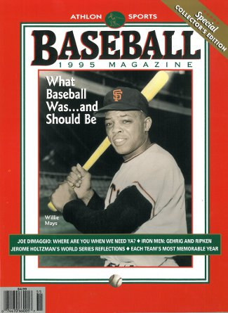 Willie Mays unsigned San Francisco Giants Athlon Sports 1995 MLB Baseball Special Collector's Edition Magazine PSM