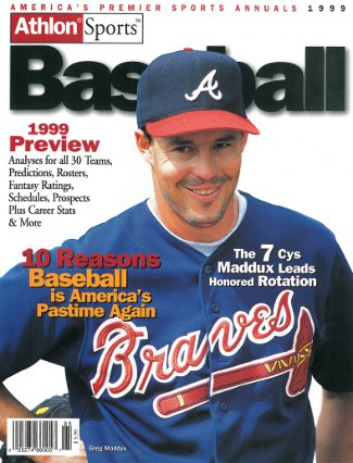 Greg Maddux unsigned Atlanta Braves Athlon Sports 1999 MLB Baseball Preview Magazine PSM-Powers Sports Memorabilia