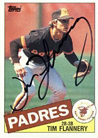 Tim Flannery Autographed / Signed 1985 Topps #182 Card - San Diego Padres PSM-Powers Sports Memorabilia