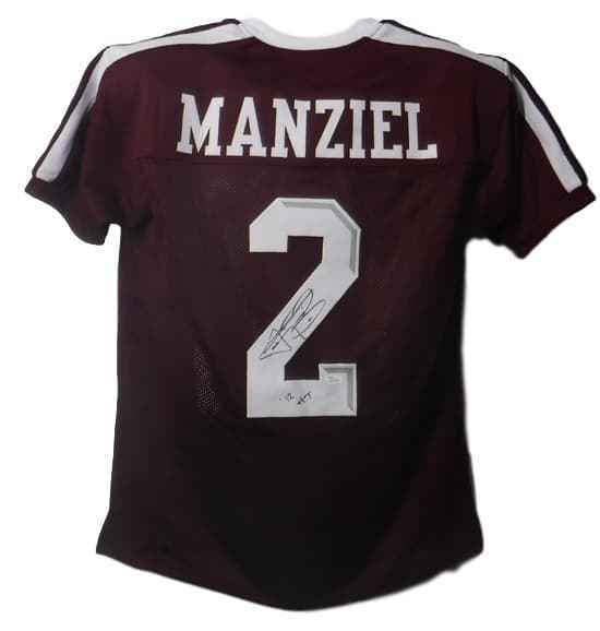 Johnny Manziel Autographed Texas A&M Maroon Size XL Jersey HT JSA PSM-Powers Sports Memorabilia