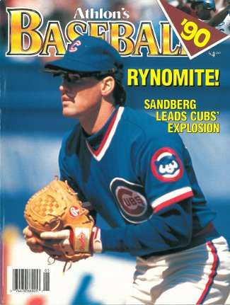 Ryne Sandberg unsigned Chicago Cubs Athlon Sports 1990 MLB Baseball Preview Magazine PSM-Powers Sports Memorabilia