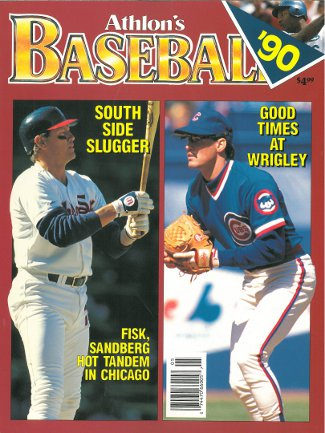 Ryne Sandberg unsigned Chicago Cubs Athlon Sports 1990 MLB Baseball Preview Magazine w/ Fisk PSM-Powers Sports Memorabilia