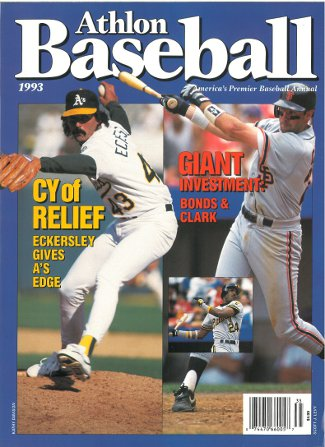 Dennis Eckersley unsigned Oakland Athletics (A's) Athlon Sports 1993 MLB Baseball Preview Magazine w/ Bonds/Clark PSM-Powers Sports Memorabilia
