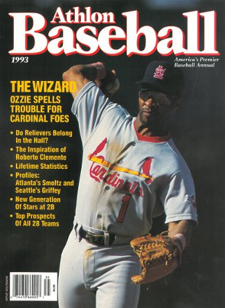 Ozzie Smith unsigned St. Louis Cardinals Athlon Sports 1993 MLB Baseball Preview Magazine PSM-Powers Sports Memorabilia