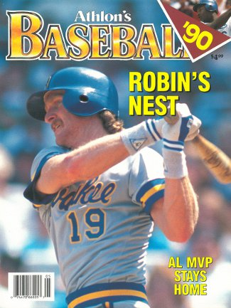 Robin Yount unsigned Milwaukee Brewers Athlon Sports 1990 MLB Baseball Preview Magazine PSM-Powers Sports Memorabilia