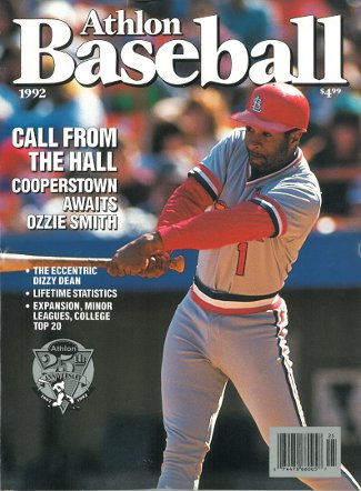 Ozzie Smith unsigned St. Louis Cardinals Athlon Sports 1992 MLB Baseball Preview Magazine PSM-Powers Sports Memorabilia