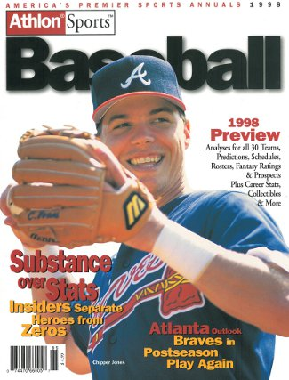 Chipper Jones unsigned Atlanta Braves Athlon Sports 1998 MLB Baseball Preview Magazine PSM