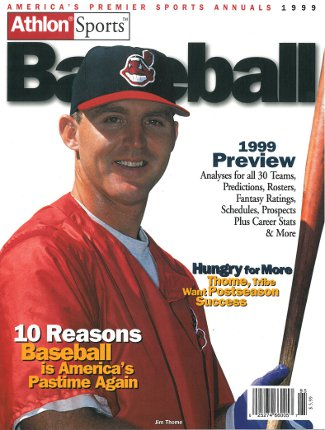 Jim Thome unsigned Cleveland Indians Athlon Sports 1999 MLB Baseball Preview Magazine PSM-Powers Sports Memorabilia