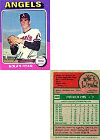 Nolan Ryan Unsigned 1975 Topps Baseball Card PSM-Powers Sports Memorabilia