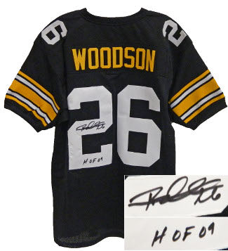 Rod Woodson signed Black TB Custom Stitched Pro Style Football Jersey #26 HOF 09 XL PSM-Powers Sports Memorabilia