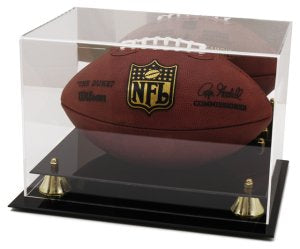 Football Deluxe Display Case Mirror Back Classic PSM-Powers Sports Memorabilia