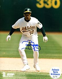 Terrence Long Autographed / Signed Oakland Athletics 8x10 Photo (Authentic Sports Investments) PSM-Powers Sports Memorabilia