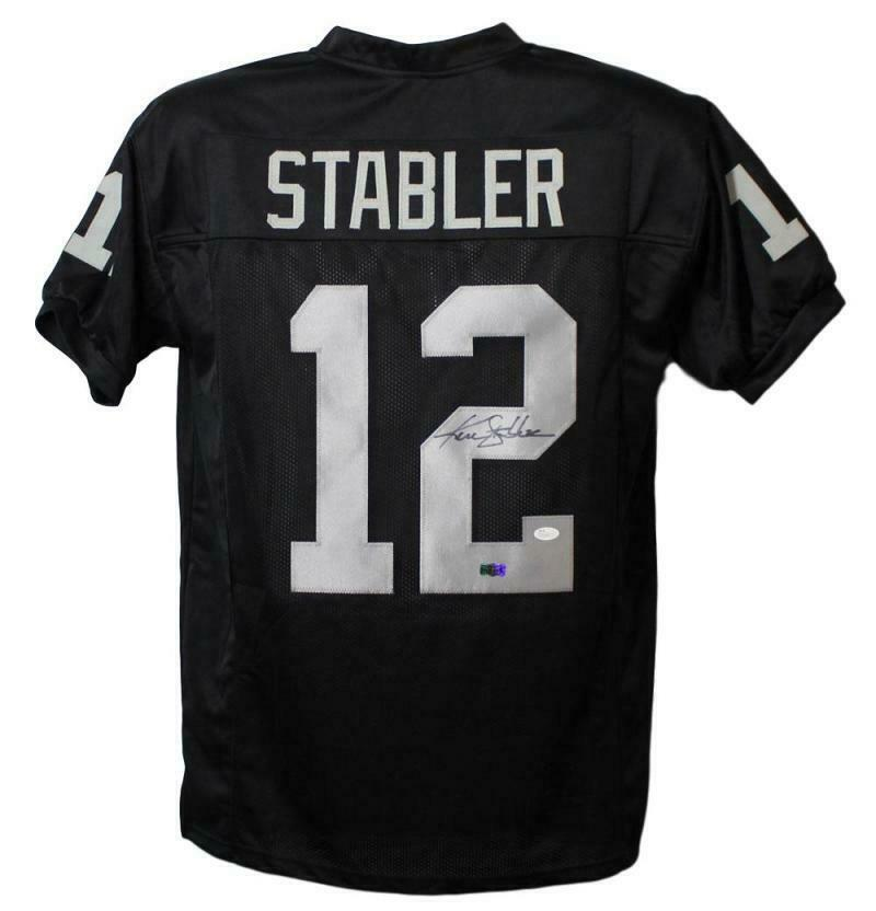 Ken Stabler Autographed Oakland Raiders XL Black Jersey JSA PSM-Powers Sports Memorabilia