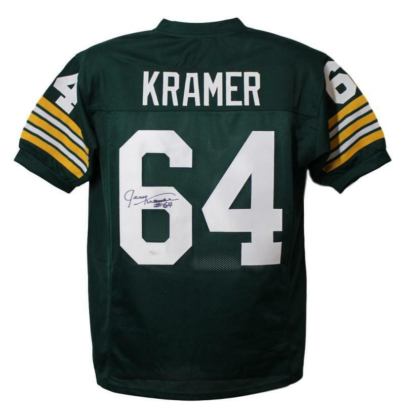 Jerry Kramer Autographed Green Bay Packers XL Green Jersey JSA PSM-Powers Sports Memorabilia