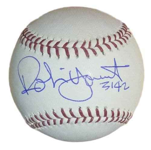 Robin Yount Autographed OML Milwaukee Brewers Baseball w/3142 PSM-Powers Sports Memorabilia