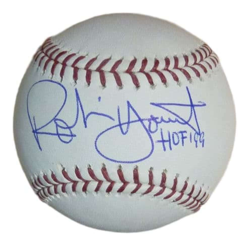 Robin Yount Autographed OML Milwaukee Brewers Baseball w/HOF 99 PSM-Powers Sports Memorabilia