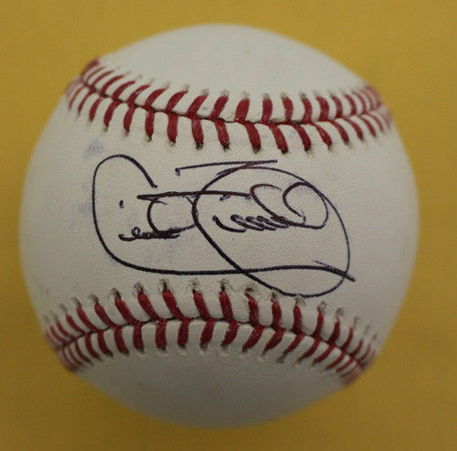 Cecil Fielder Autographed Detroit Tigers OML Baseball in Black Steiner PSM-Powers Sports Memorabilia