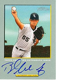Brandon McCarthy Autographed Chicago White Sox Baseball Card PSM-Powers Sports Memorabilia