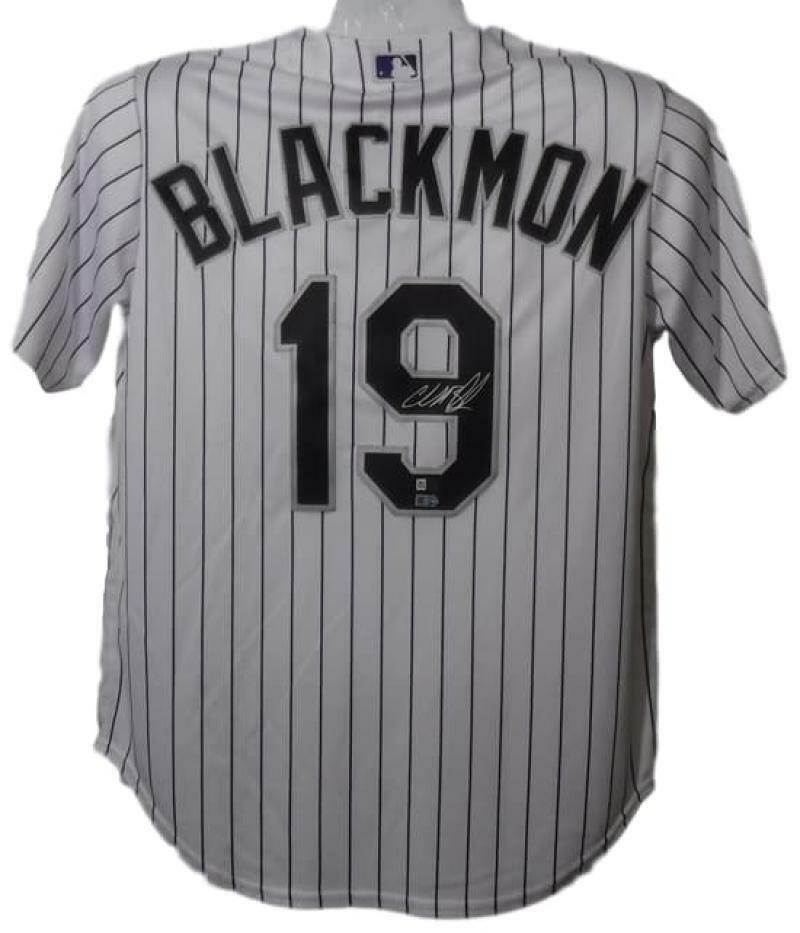 Charlie Blackmon Autographed Colorado Rockies Majestic XL White Jersey FAN PSM-Powers Sports Memorabilia