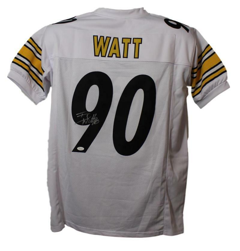 TJ Watt Autographed Pittsburgh Steelers XL White Jersey JSA PSM-Powers Sports Memorabilia