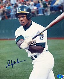 Rickey Henderson Autographed / Signed Oakland Athletics Baseball 8x10 Photo PSM-Powers Sports Memorabilia
