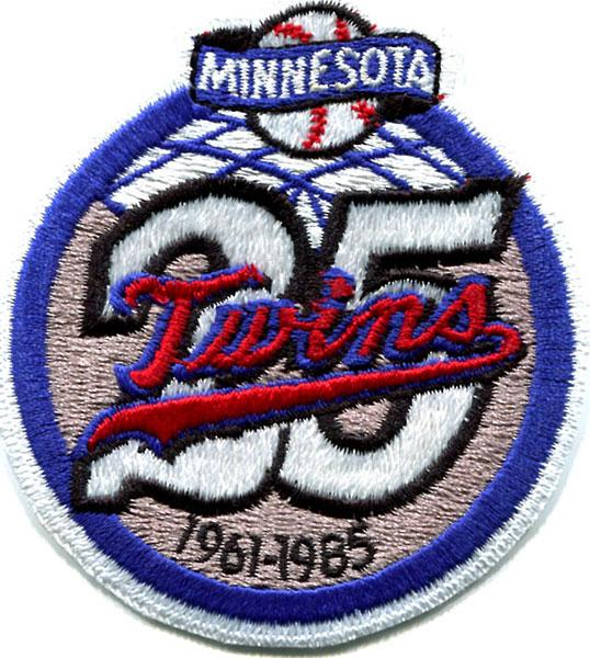 Minnesota Twins 25th Anniversary Patch PSM-Powers Sports Memorabilia