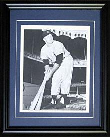 Mickey Mantle Unsigned 8x10 Holding Bats Black and White Photo PSM-Powers Sports Memorabilia