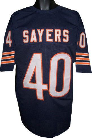 Gale Sayers unsigned Navy TB Custom Stitched Pro Style Football Jersey XL PSM-Powers Sports Memorabilia