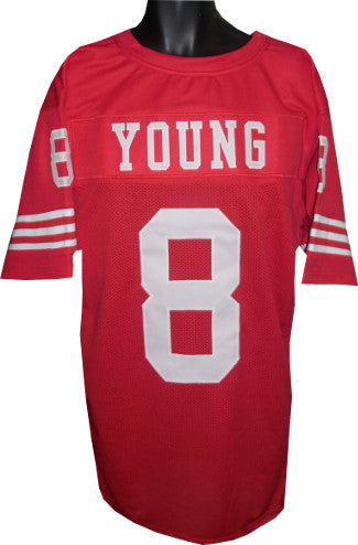 Steve Young Red TB Custom Stitched Pro Style Football Jersey XL PSM-Powers Sports Memorabilia