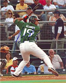Yonder Alonso Autographed / Signed 8x10 Photo- Miami Hurricanes PSM-Powers Sports Memorabilia