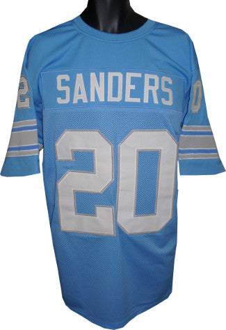 Barry Sanders unsigned Blue TB Custom Stitched Pro Style Football Jersey XXL PSM