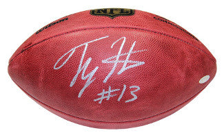 TY Hilton signed Official NFL New Duke Football- Steiner Hologram (Indianapolis Colts) PSM-Powers Sports Memorabilia
