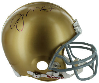 Joe Montana signed Notre Dame Fighting Irish Riddell TB Mini Helmet imperfect- Montana Hologram PSM-Powers Sports Memorabilia