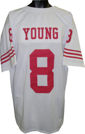 Steve Young unsigned White TB Custom Stitched Pro Style Football Jersey XL PSM-Powers Sports Memorabilia