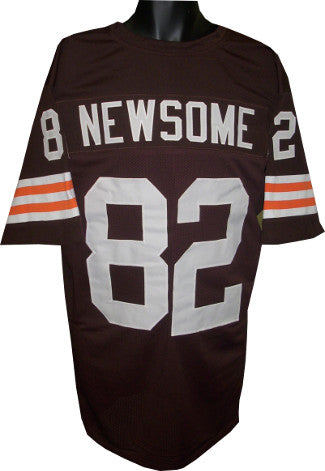 Ozzie Newsome Brown TB Custom Stitched Pro Style Football Jersey XL PSM-Powers Sports Memorabilia