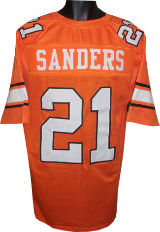 Barry Sanders unsigned Orange TB Custom Stitched Football Jersey XL PSM