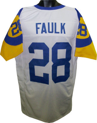 Marshall Faulk White TB Custom Stitched Pro Style Football Jersey XL PSM-Powers Sports Memorabilia