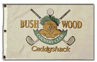 Caddyshack Bushwood Country Club Logo unsigned 12 x 21 Golf Pin Flag (Entertainment/Movie) PSM-Powers Sports Memorabilia