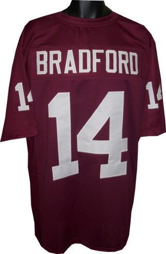 Sam Bradford unsigned Maroon TB Custom Stitched Football Jersey XL PSM-Powers Sports Memorabilia