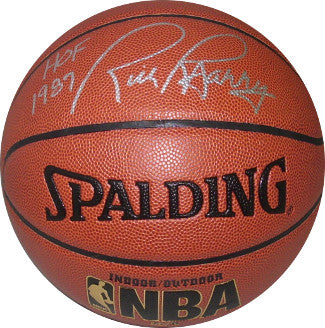 Rick Barry signed Spalding NBA TB Indoor/Outdoor Basketball HOF 1987 (Silver sig) (Golden State Warriors) PSM-Powers Sports Memorabilia