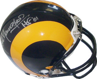 Jack Youngblood signed Los Angeles Rams TB Mini Helmet HOF 01 (silver sig) PSM-Powers Sports Memorabilia