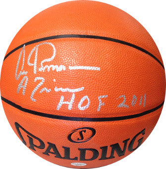 Artis Gilmore signed Indoor/Outdoor NBA Spalding Basketball HOF 2011 & A Train (Kentucky Colonels/Spurs/Bulls) PSM-Powers Sports Memorabilia