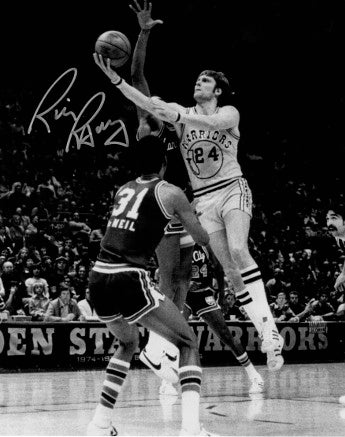 Rick Barry signed Golden State Warriors 8x10 B&W Vintage Photo PSM-Powers Sports Memorabilia