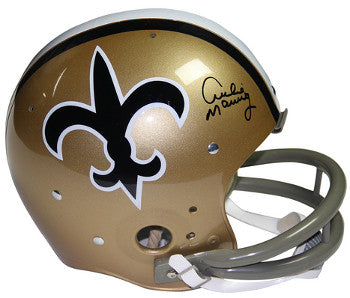 Archie Manning signed New Orleans Saints Riddell TK Full Size 2-bar TB Helmet- Steiner Hologram PSM-Powers Sports Memorabilia