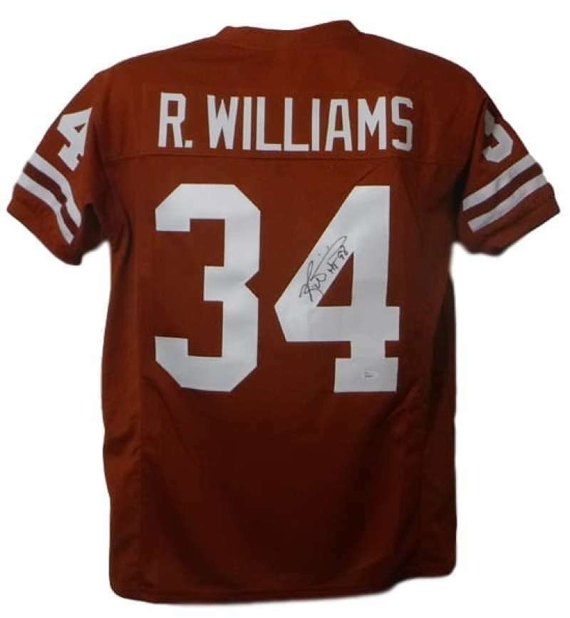 Ricky Williams Autographed Texas Longhorns Size XL Orange-Rust Jersey HT 98 JSA PSM-Powers Sports Memorabilia